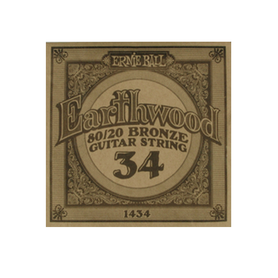 Ernie Ball Earthwood 1434 80/20 Bronze Acoustic Guitar Single 34