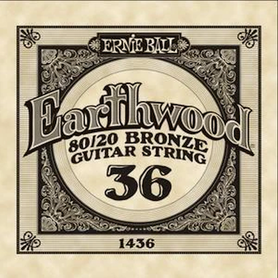 Ernie Ball Earthwood 1436 80/20 Bronze Acoustic Guitar Single 36