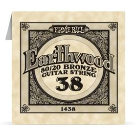 Ernie Ball Earthwood 1438 80/20 Bronze Acoustic Guitar Single 38
