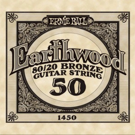 Ernie Ball Earthwood 1450 80/20 Bronze Acoustic Guitar Single 50