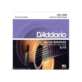 DADDARIO EJ13 80/20 Bronze Round Wound 11-52 Struny Do Gitary Akustycznej