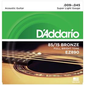 D'ADDARIO EZ890 85/15 9-45 - struny do gitary akustycznej
