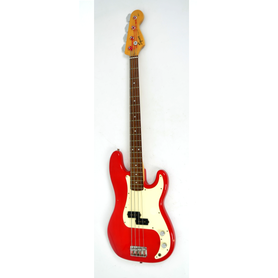 Squier P Bass Red Gitara Basowa